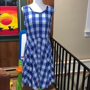 EUC Buffalo Plaid Lularoe Nicki Dress